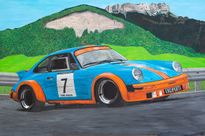 Porsche en Chartreuse